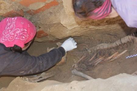 Trabajo de exhumación.