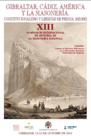 Cartel del XIII Symposium de Historia de la Masonería Española.