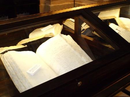 Exposición de manuscritos.