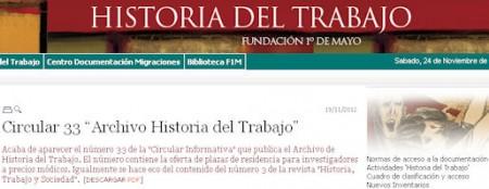 Historia del Trabajo de la Fundación 1º de Mayo.