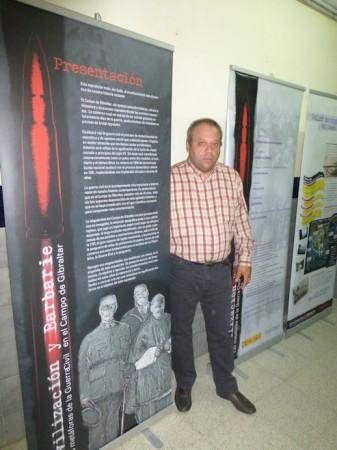 Andrés del Río, vicepresidente del Foro por la Memoria del Campo de Gibraltar.
