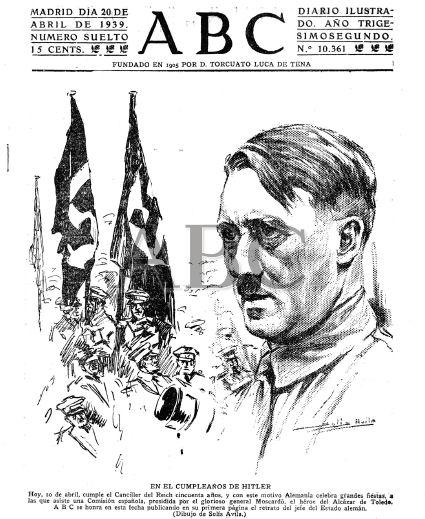 Primera página de ABC del 20 de abril de 1939.