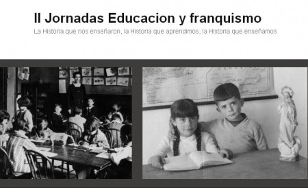 Captura del blog http://jornadaseducacionyfranquismo.wordpress.com.