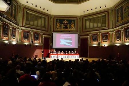 Asistentes al acto en el Ateneo de Madrid (Foto: Participantes en la mesa redonda (Foto: Jesús Rodríguez MCyP).