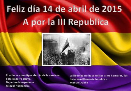Conmemoración de la proclamación de la Segunda República.