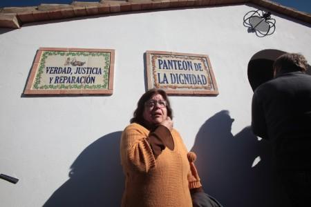 Juana Herrera, nieta de desaparecido en la Sauceda.