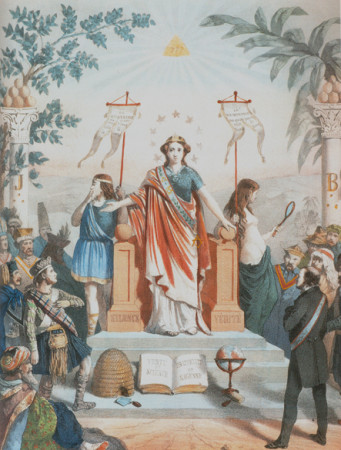 La masonería instruyendo a los pueblos (mediados del siglo XIX).