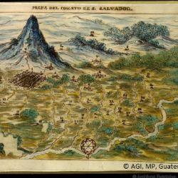 Mapa del curato de San Salvador (Archivo General de Indias).