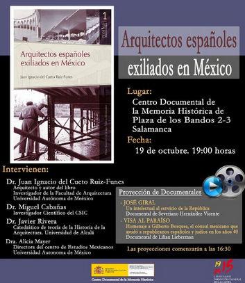 Cartel de las actividades anunciadas.