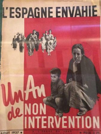 Publicación de 1937 exhibida en la exposición sobre Negrín.