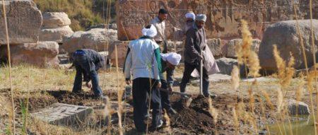 Excavaciones en el templo de Heryshef.