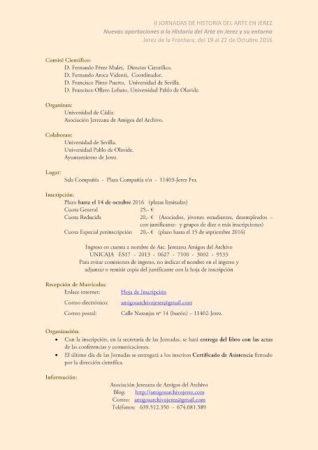 II Jornadas de Historia del Arte en Jerez.