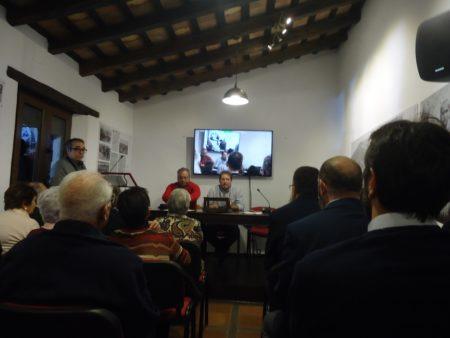 Andrés Rebolledo y Andrés del Río, en el acto de inauguración.