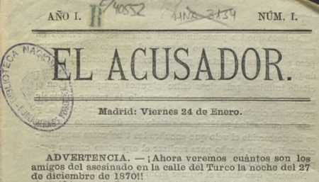 El Acusador (Madrid, 1873), uno de los títulos incorporados.