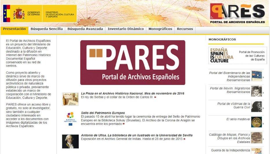 Nueva versión del buscador del Portal de Archivos Españoles ...