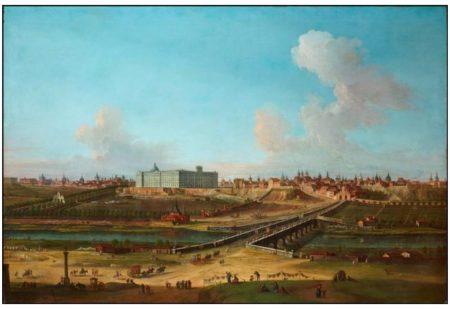 Vista del Palacio Real de Madrid desde la orilla del río Manzanares, por Antonio Joli (1755).