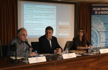 Fernando Sígler, Antonio Morales y Lidia García, durante la presentación.
