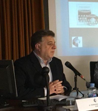 Antonio Morales Benítez, durante su intervención.