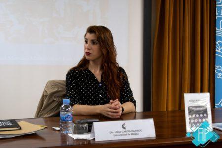 La articulista Lidia García (Foto: Azalmara Producciones).