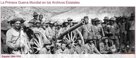 Captura del portal dedicado a la primera guerra mundial.