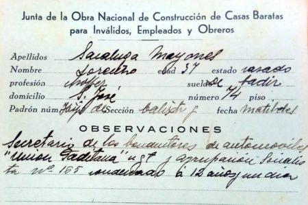 Documento sobre uno de los empleados municipales depurados.