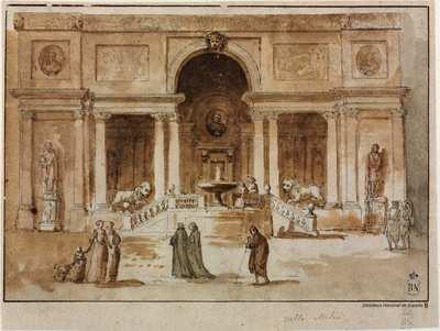 Vista de la loggia de Villa Medici en Roma