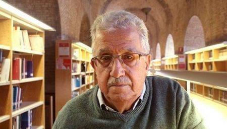 Josep Fontana, en el edificio del Depósito de les Aigües, sede del Institut Universitari d'Història Jaume Vicens Vives (Foto: Universidad Pompeu Fabra).
