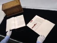 Tratado de Münster-Westfalia, ejemplares en neerlandés y francés.