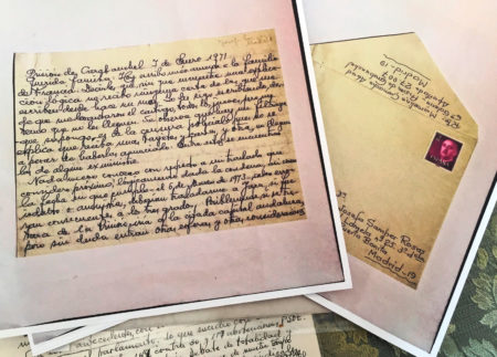 Carta de Marcelino Camacho a su familia desde prisión fechada el 7 de enero de 1971.