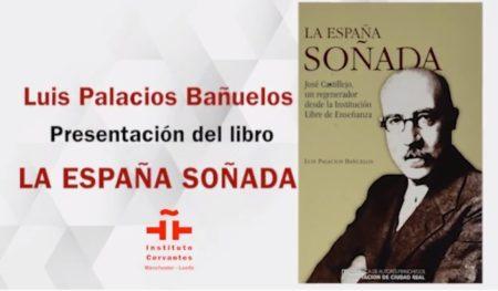 Anuncio de la presentación del libro en el Instituto Cervantes de Manchester.