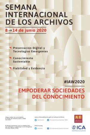 Cartel de la conmemoración del Día Intrernacional de los Archivos.