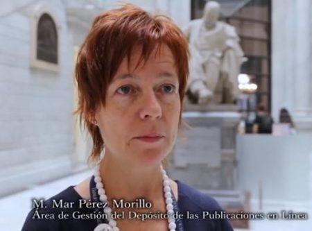 Mª del Mar Pérez Morillo (Área de Gestión del Depósito de Publicaciones en Línea (BNE).
