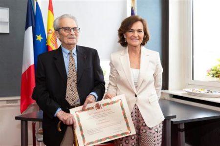 Juan Romero y Carmen Calvo (Pool Moncloa - Fernando Pérez de Pedro).